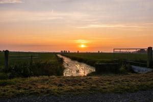 Lanschappen - Zonsondergang in Friesland