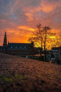Stad - Zonsondergang in Leiden