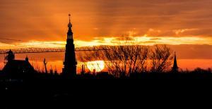 Stad - Zonsopkomst in Leiden