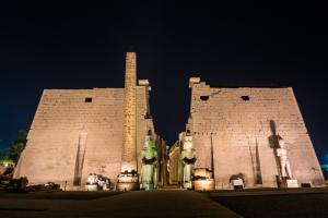 Cultuur - Luxor temple by night.