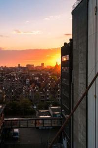 Stad - Zonsondergang Leiden