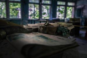 Urbex - Masks at the ready, Chernobyl
